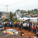 Plane Crash? Omotola Jalade's husband scrap plane causes panic in Lagos